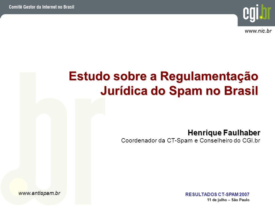 Estudo sobre a Regulamentação Jurídica do Spam no Brasil