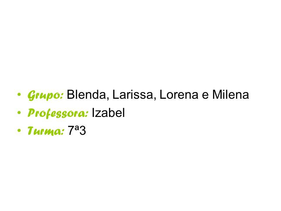 Grupo: Blenda, Larissa, Lorena e Milena