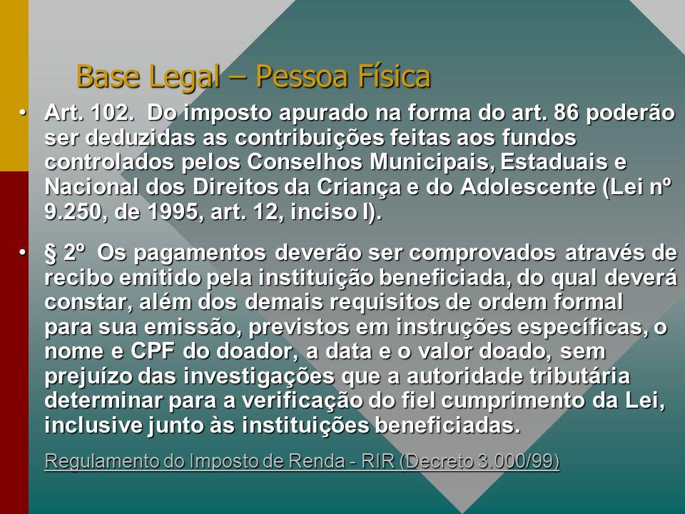 Base Legal – Pessoa Física