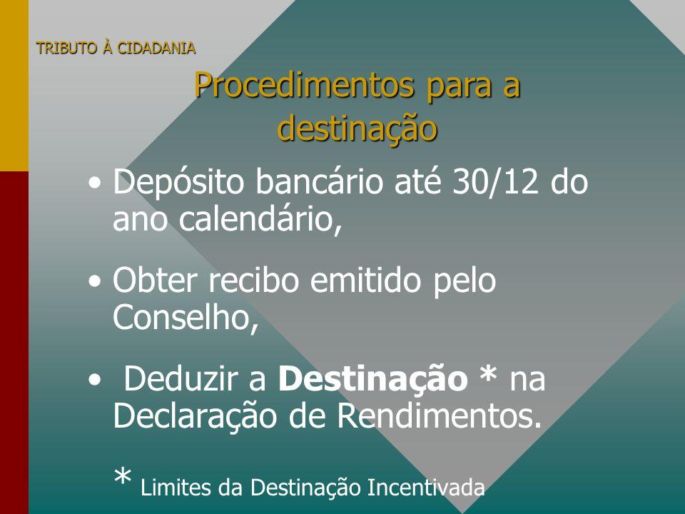 Depósito bancário até 30/12 do ano calendário,