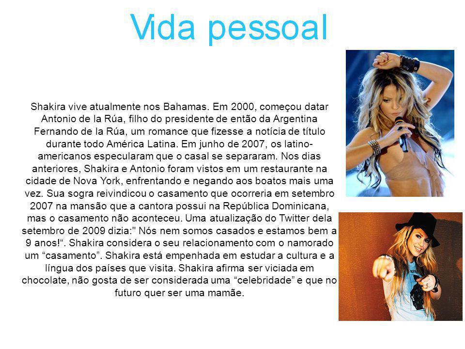 Shakira vive atualmente nos Bahamas