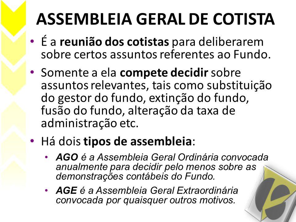 ASSEMBLEIA GERAL DE COTISTA