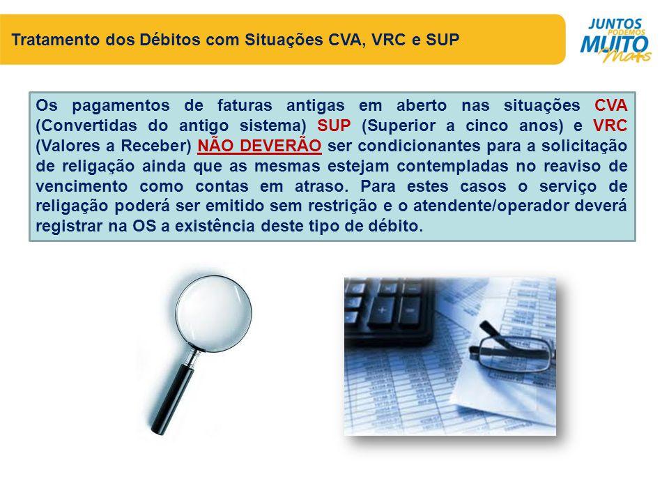 Tratamento dos Débitos com Situações CVA, VRC e SUP