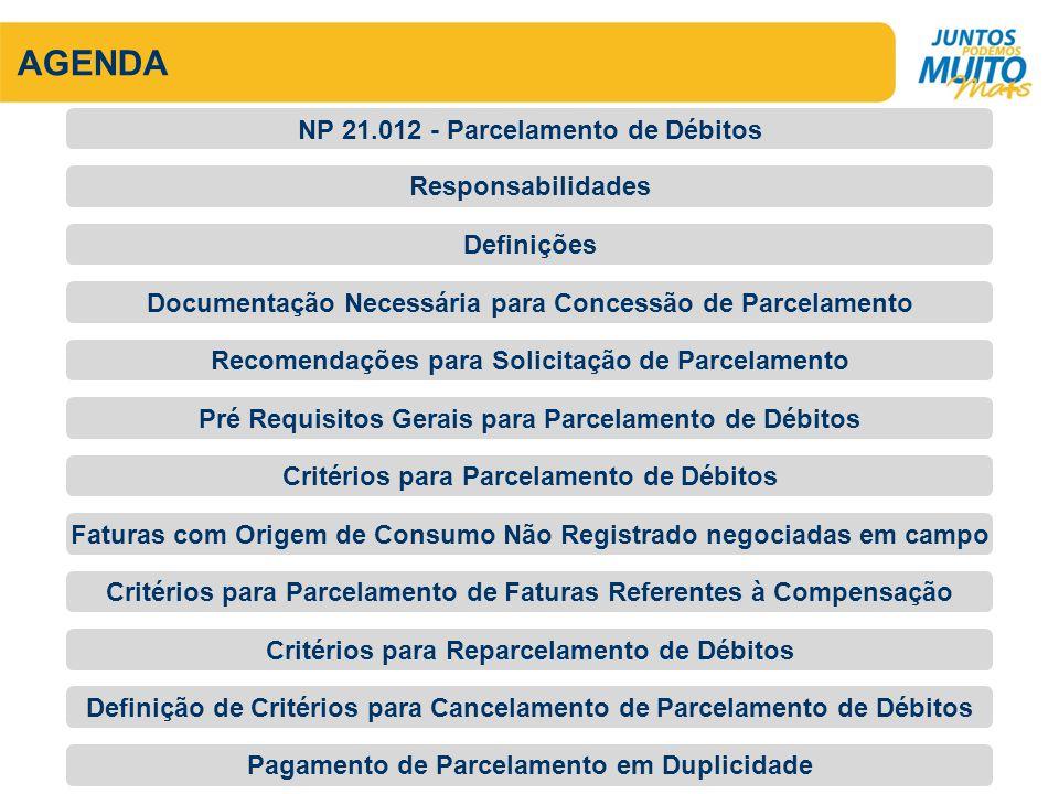 AGENDA NP 21.012 - Parcelamento de Débitos Responsabilidades