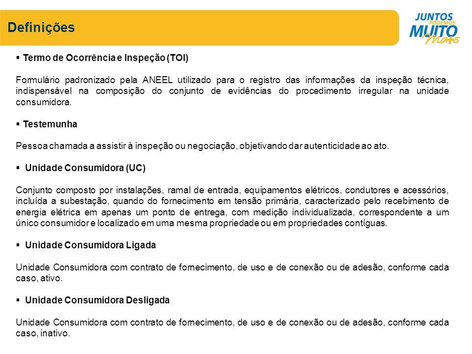 Definições Termo de Ocorrência e Inspeção (TOI)