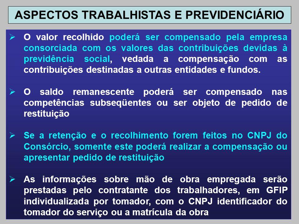 ASPECTOS TRABALHISTAS E PREVIDENCIÁRIO