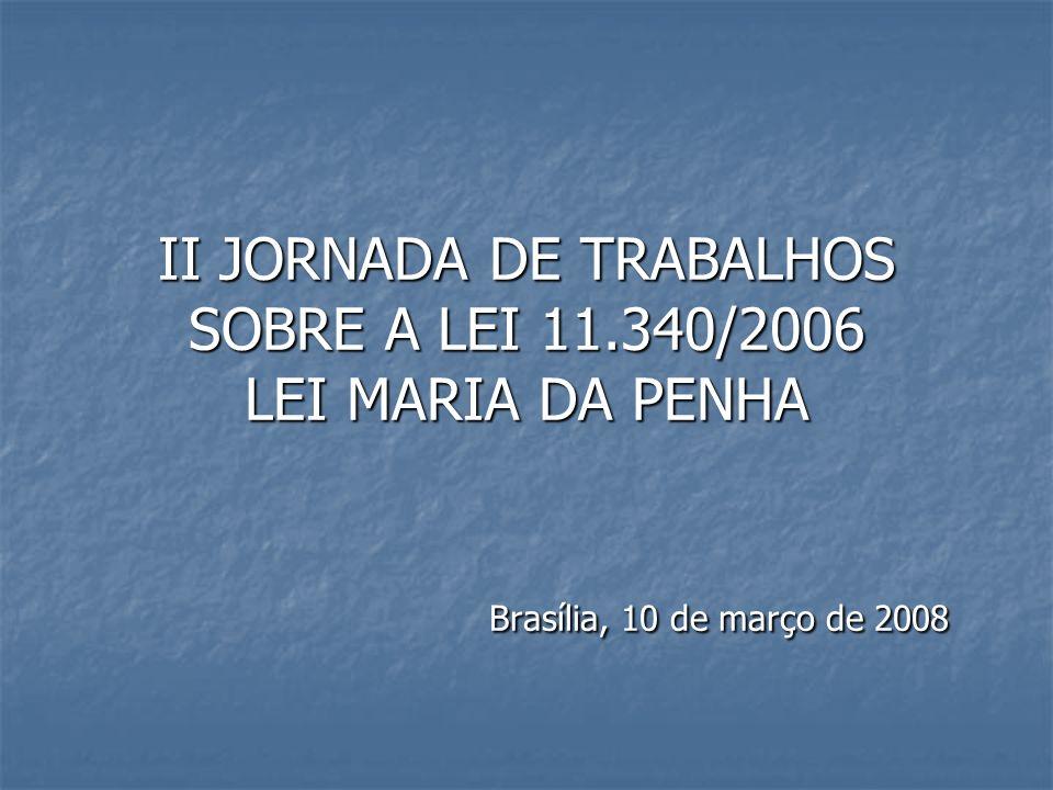 II JORNADA DE TRABALHOS SOBRE A LEI 11