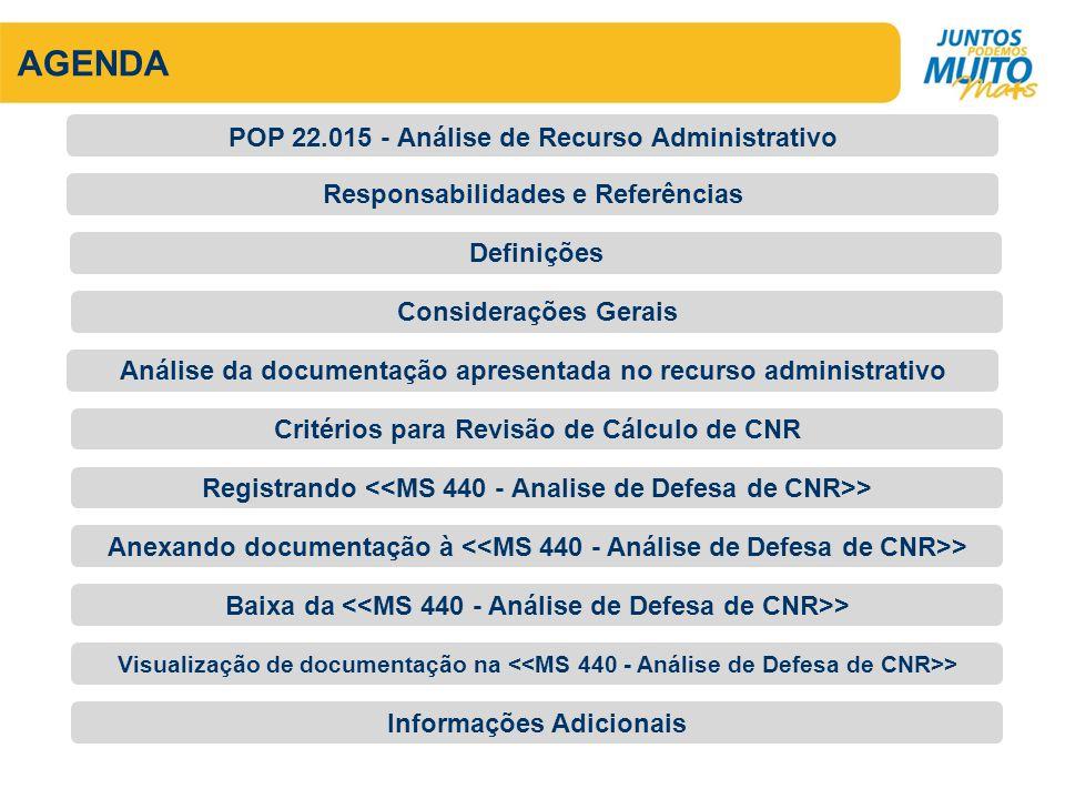 AGENDA POP 22.015 - Análise de Recurso Administrativo
