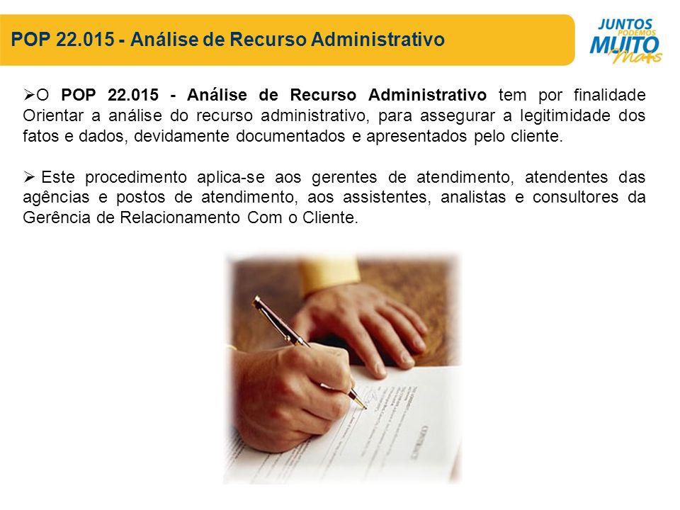 POP 22.015 - Análise de Recurso Administrativo