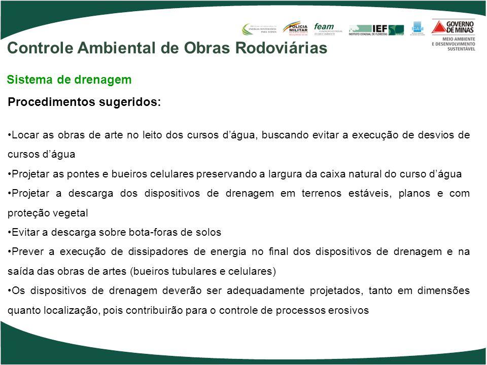 Controle Ambiental de Obras Rodoviárias
