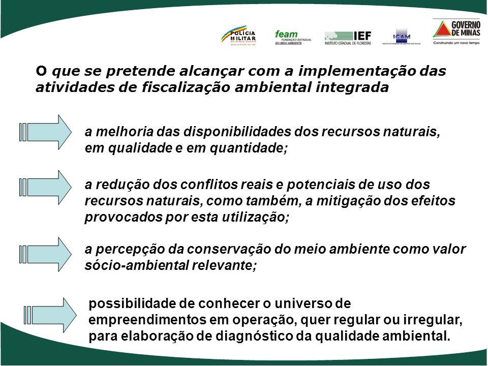 O que se pretende alcançar com a implementação das atividades de fiscalização ambiental integrada