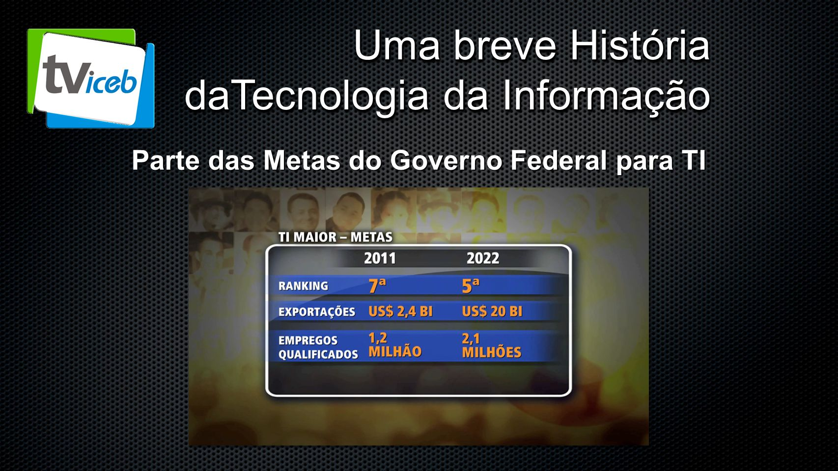 Parte das Metas do Governo Federal para TI