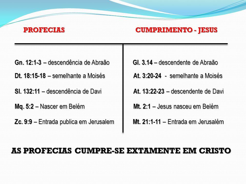 AS PROFECIAS CUMPRE-SE EXTAMENTE EM CRISTO