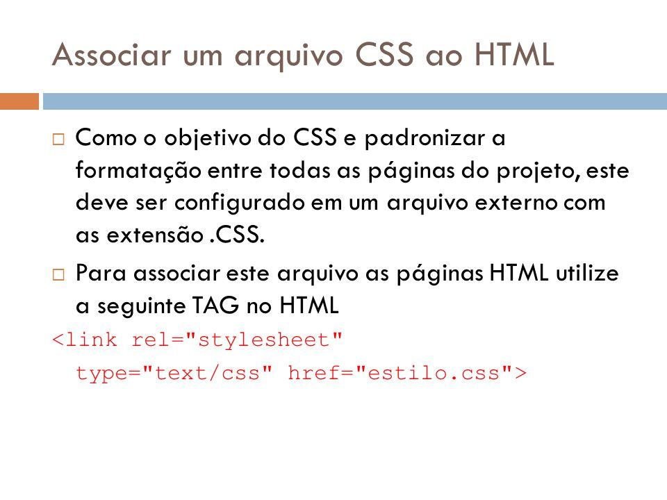 Associar um arquivo CSS ao HTML
