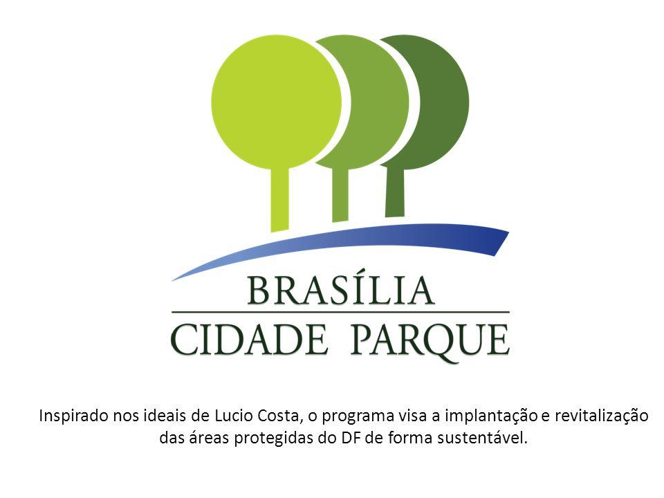 Inspirado nos ideais de Lucio Costa, o programa visa a implantação e revitalização das áreas protegidas do DF de forma sustentável.