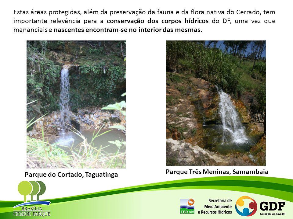 Estas áreas protegidas, além da preservação da fauna e da flora nativa do Cerrado, tem importante relevância para a conservação dos corpos hídricos do DF, uma vez que mananciais e nascentes encontram-se no interior das mesmas.