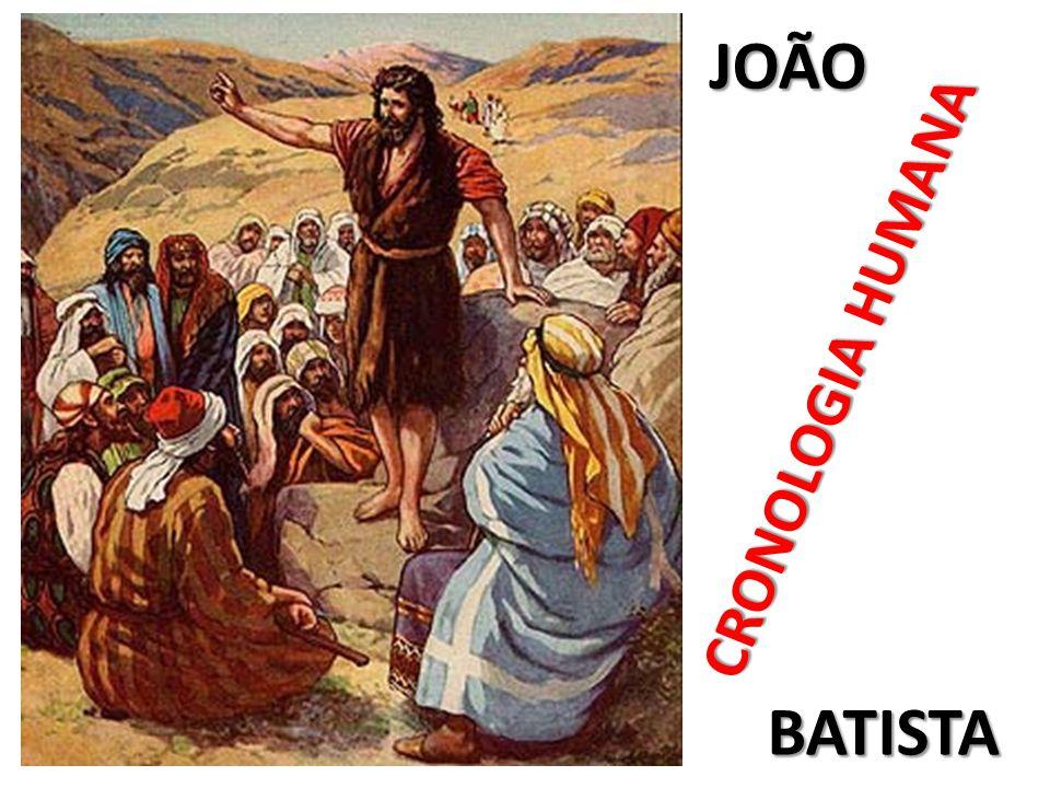 JOÃO CRONOLOGIA HUMANA BATISTA