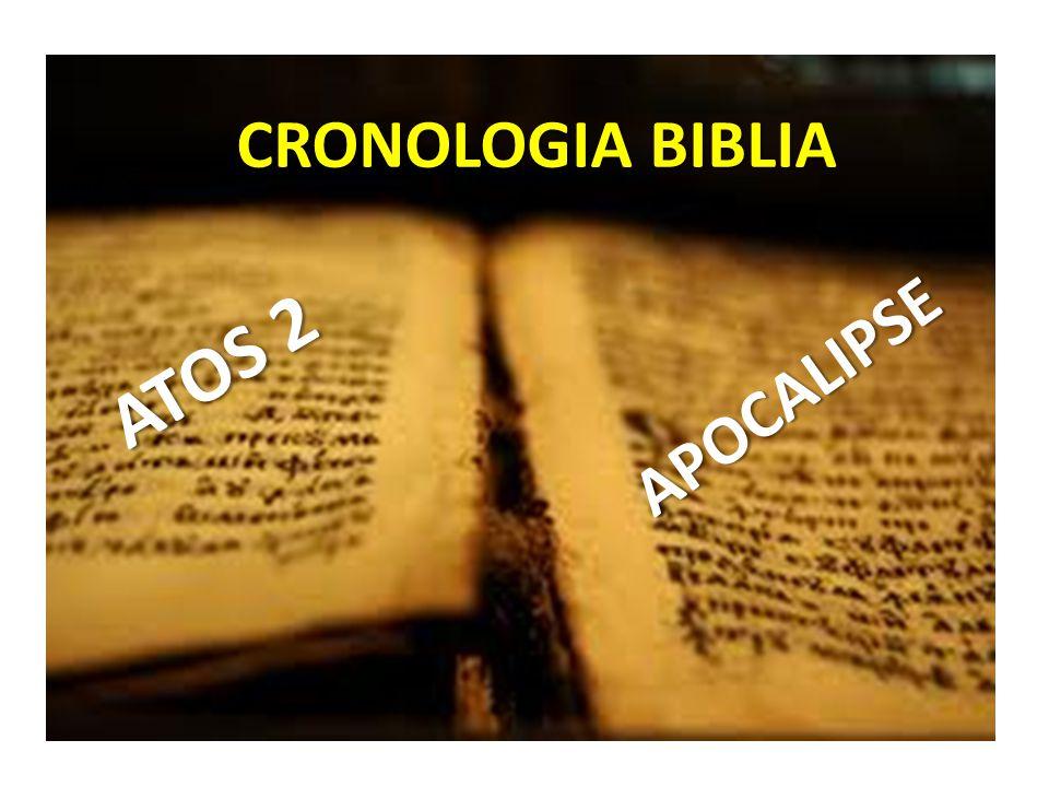 CRONOLOGIA BIBLIA ATOS 2 APOCALIPSE