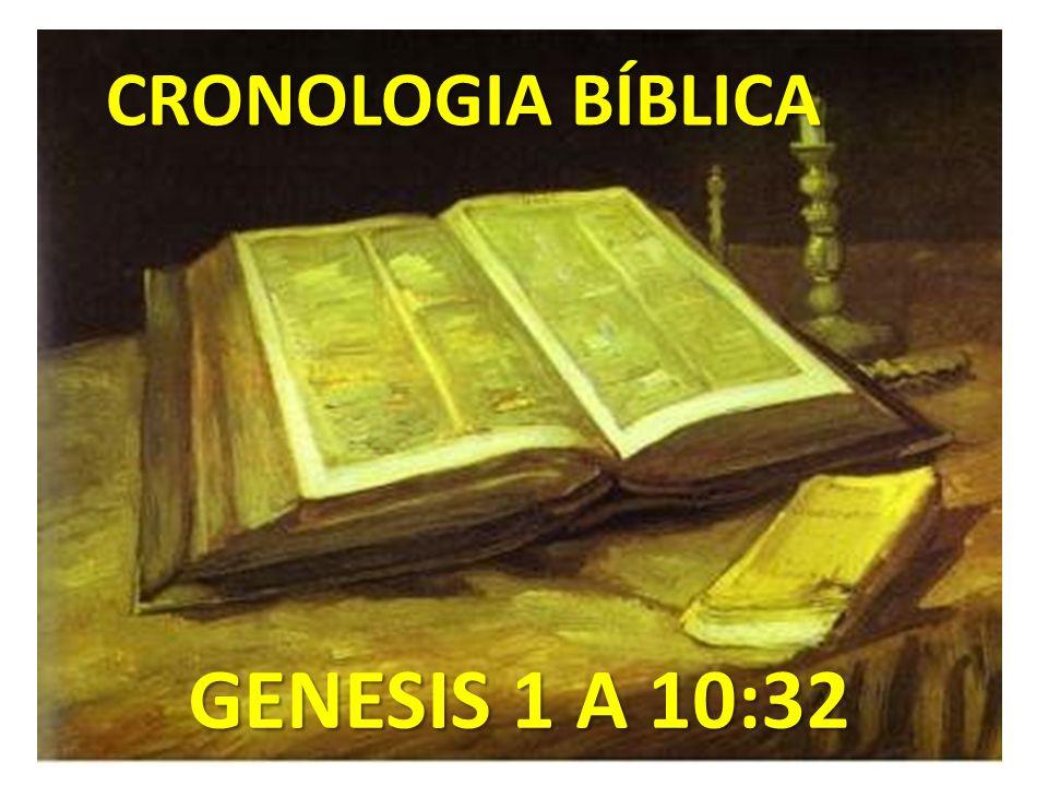 CRONOLOGIA BÍBLICA GENESIS 1 A 10:32