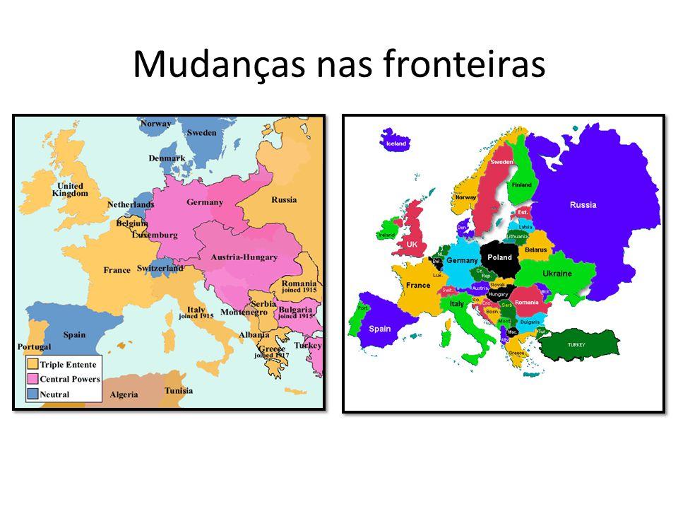 Mudanças nas fronteiras