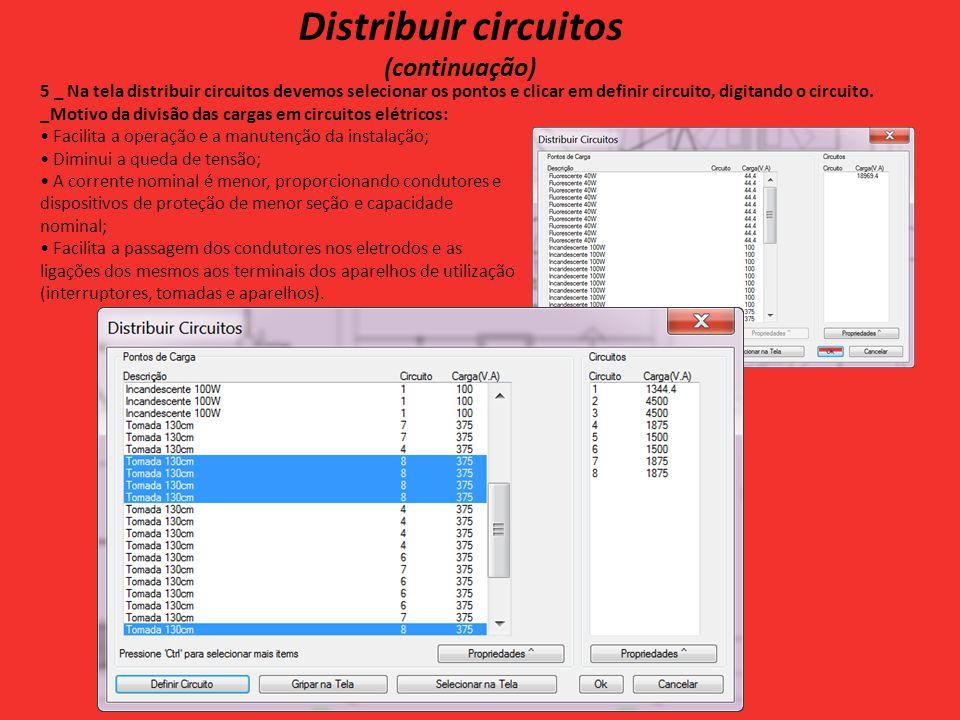 Distribuir circuitos (continuação)