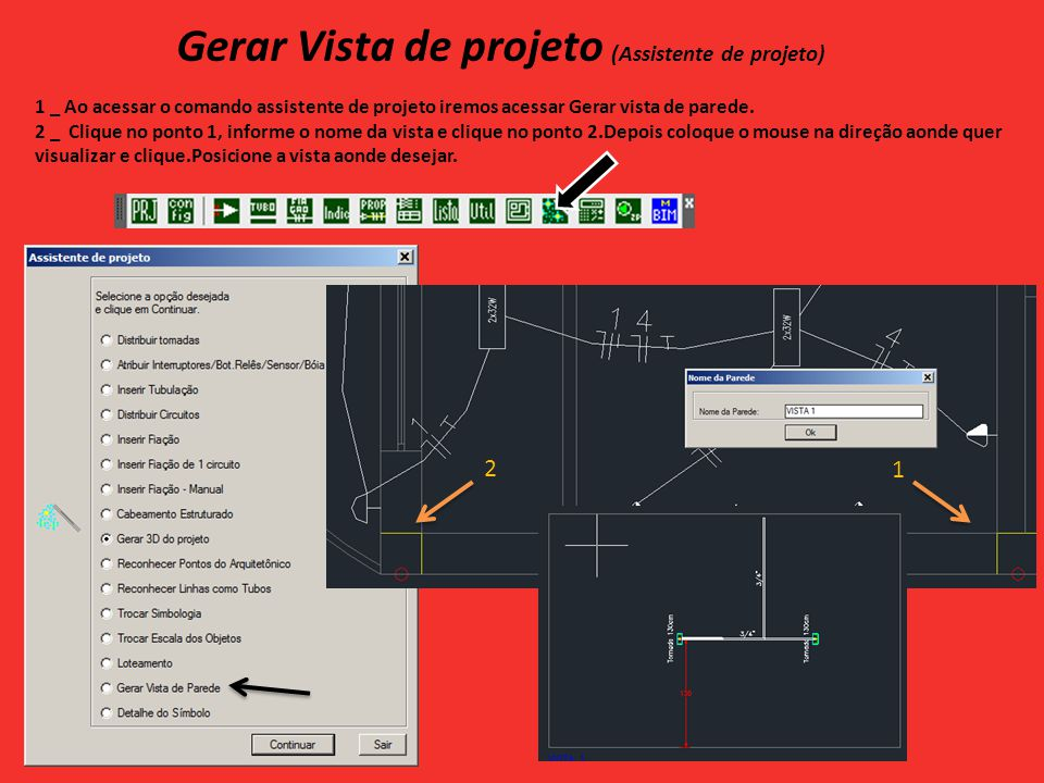 Gerar Vista de projeto (Assistente de projeto)