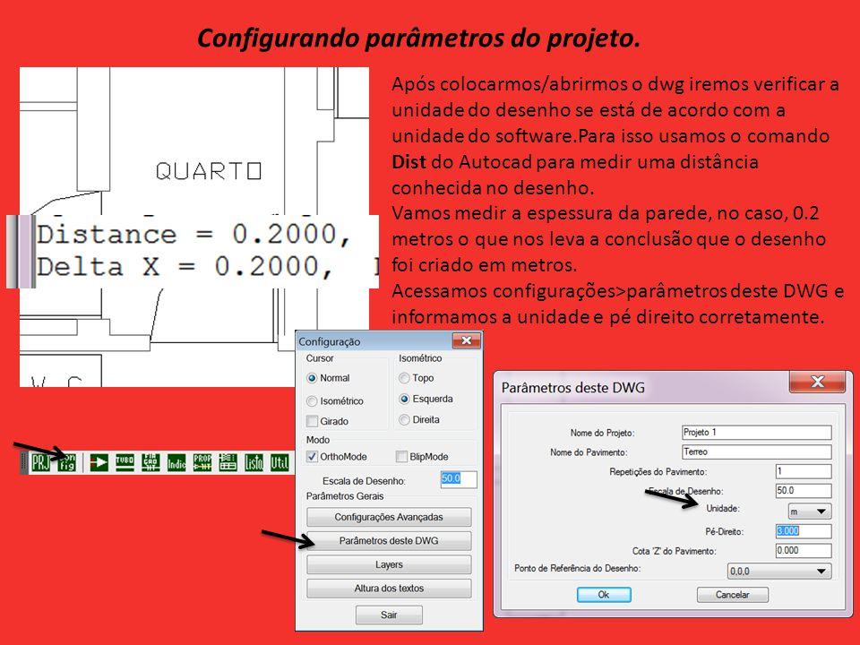 Configurando parâmetros do projeto.