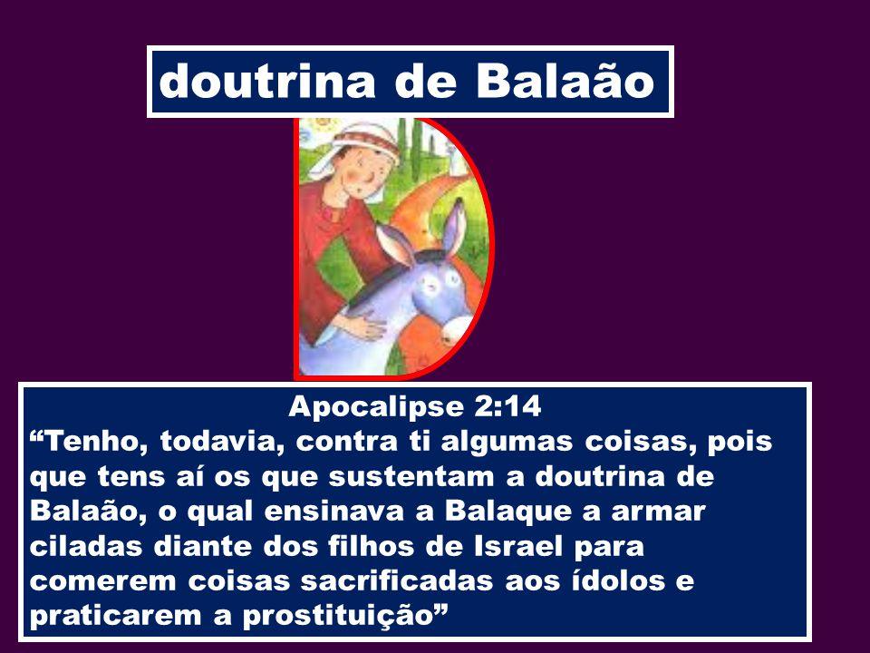 doutrina de Balaão Apocalipse 2:14