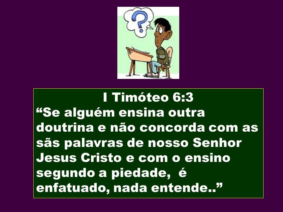 I Timóteo 6:3