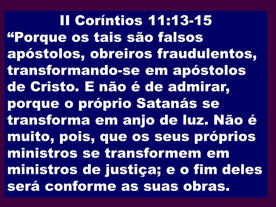 II Coríntios 11:13-15