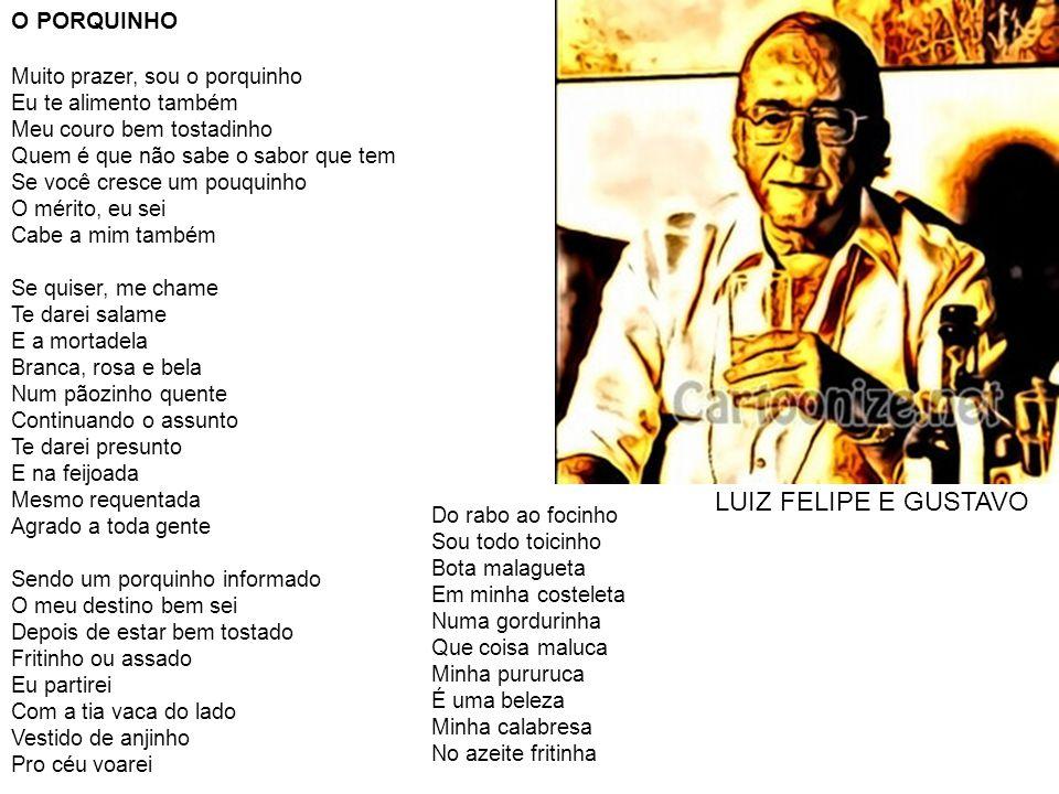 LUIZ FELIPE E GUSTAVO O PORQUINHO