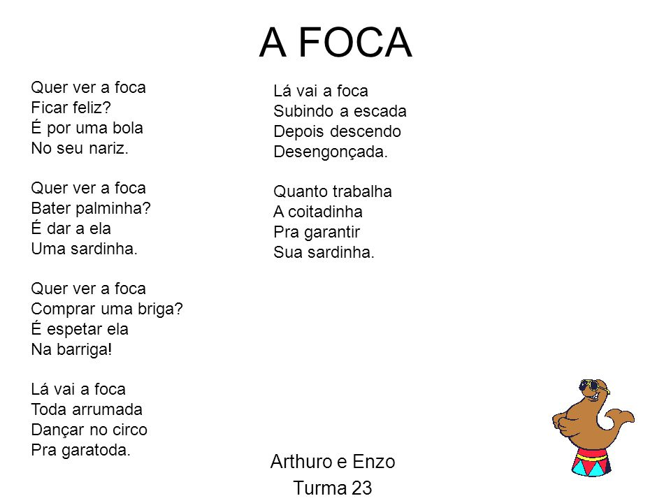 A FOCA Arthuro e Enzo Turma 23