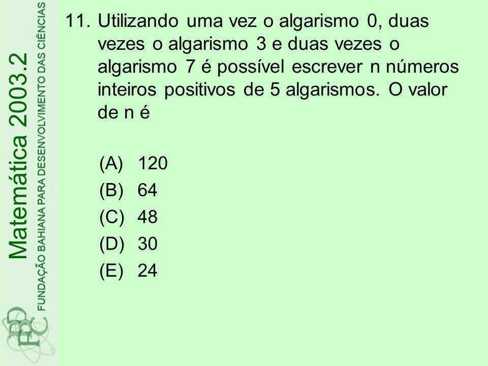 Utilizando uma vez o algarismo 0, duas vezes o algarismo 3 e duas vezes o algarismo 7 é possível escrever n números inteiros positivos de 5 algarismos. O valor de n é