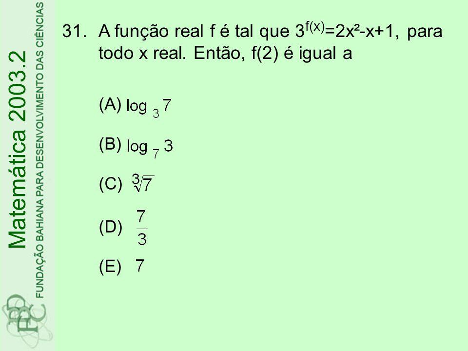 A função real f é tal que 3f(x)=2x²-x+1, para todo x real