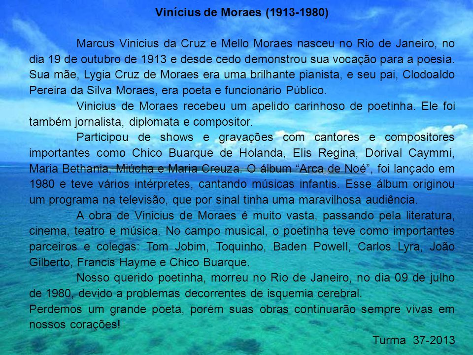 Vinícius de Moraes (1913-1980)