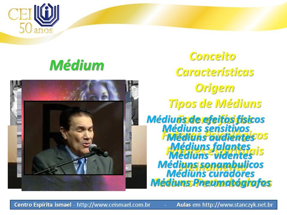 Médium Conceito Características Origem Tipos de Médiuns