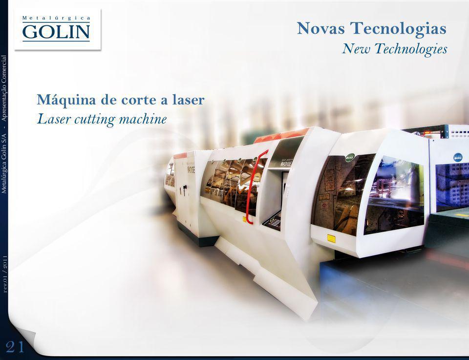 21 Novas Tecnologias New Technologies Máquina de corte a laser