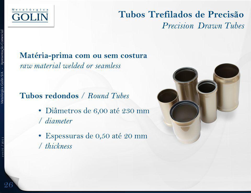 Tubos Trefilados de Precisão Precision Drawn Tubes
