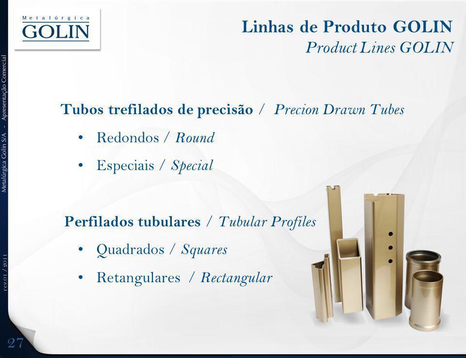 Linhas de Produto GOLIN Product Lines GOLIN