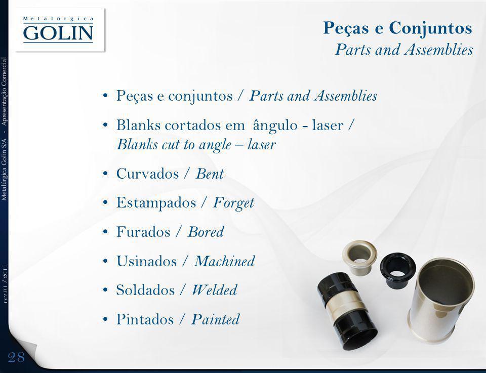 Peças e Conjuntos Parts and Assemblies