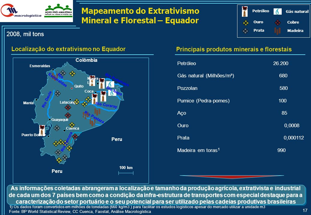 Mapeamento do Extrativismo Mineral e Florestal – Equador