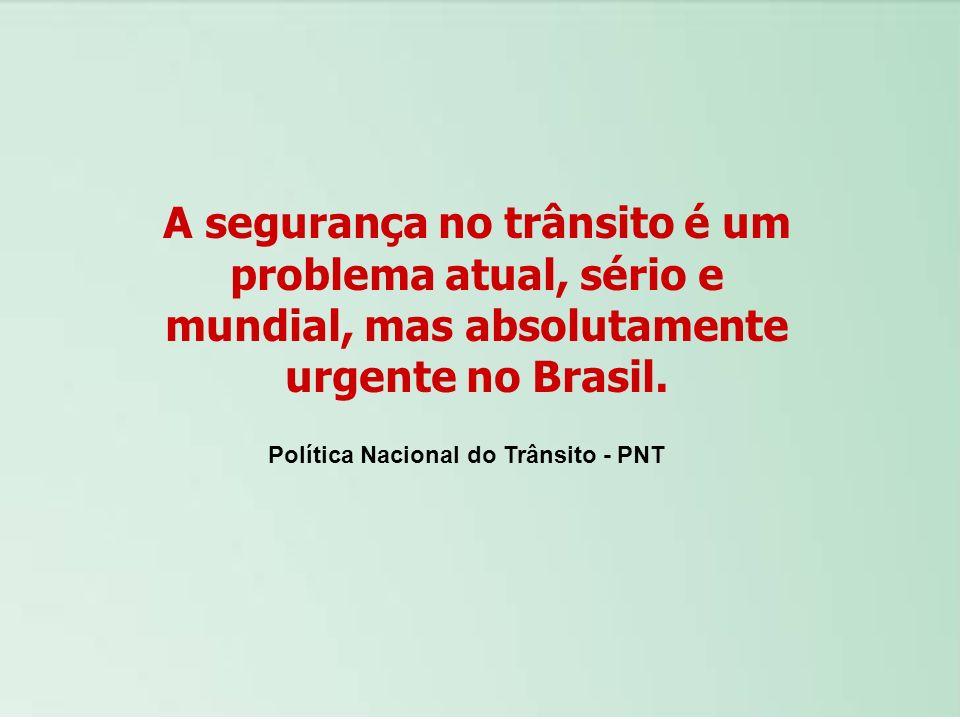 A segurança no trânsito é um problema atual, sério e mundial, mas absolutamente urgente no Brasil.