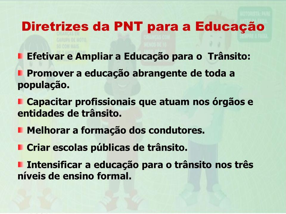 Diretrizes da PNT para a Educação