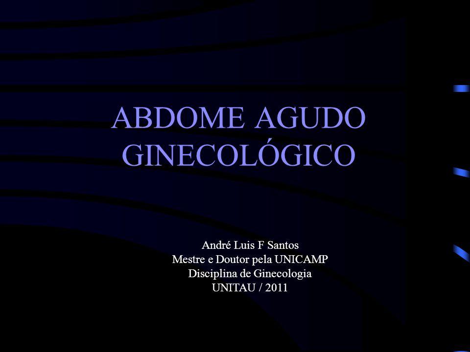 ABDOME AGUDO GINECOLÓGICO