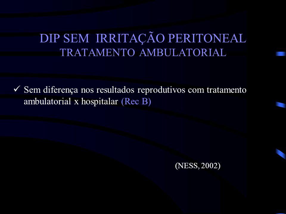 DIP SEM IRRITAÇÃO PERITONEAL TRATAMENTO AMBULATORIAL