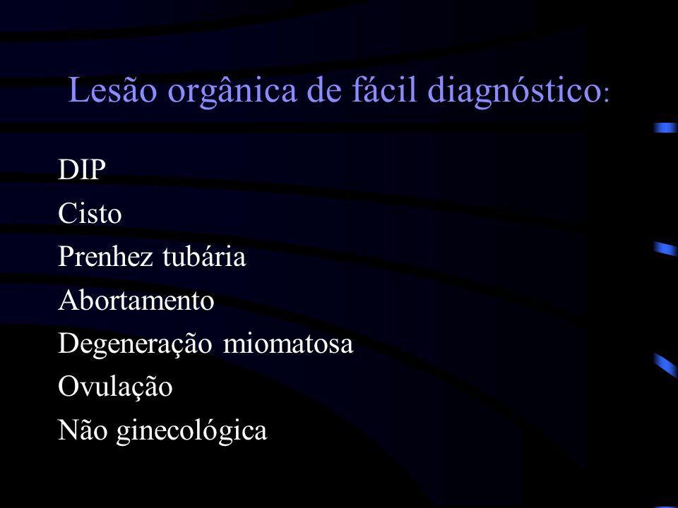 Lesão orgânica de fácil diagnóstico: