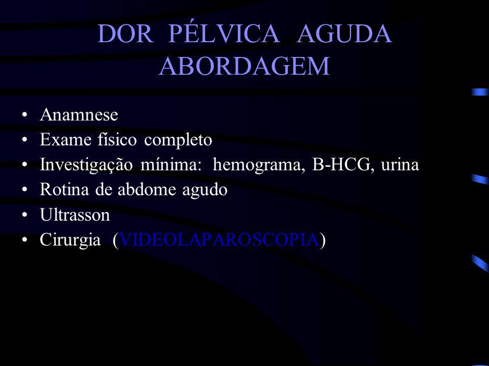 DOR PÉLVICA AGUDA ABORDAGEM