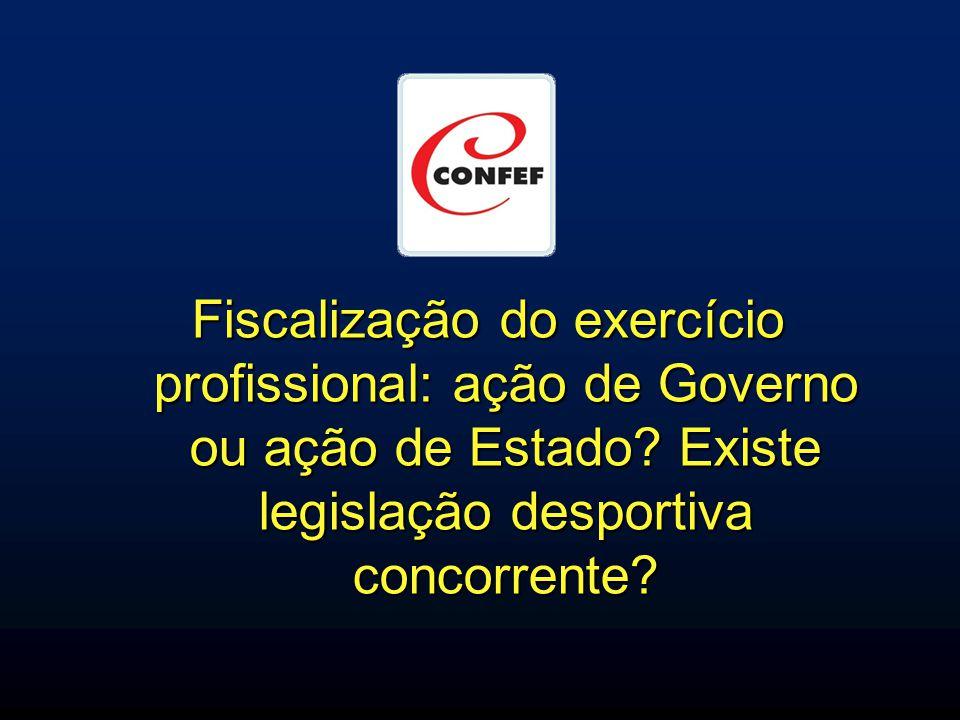 Fiscalização do exercício profissional: ação de Governo ou ação de Estado.