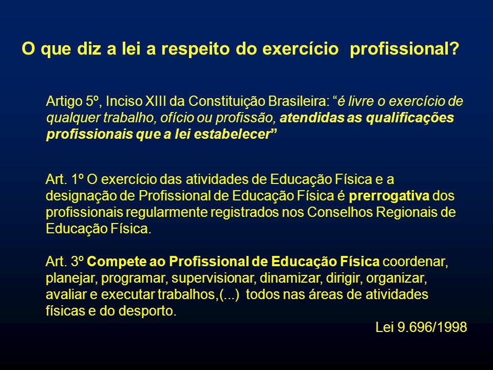 O que diz a lei a respeito do exercício profissional