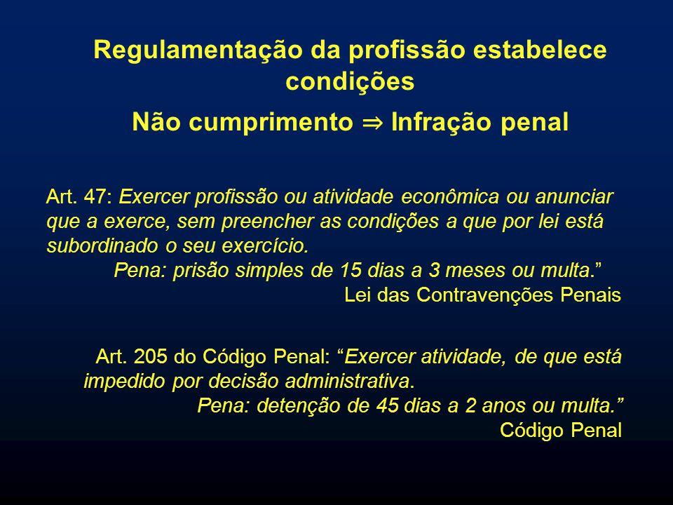 Regulamentação da profissão estabelece condições